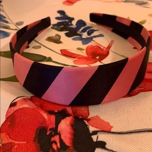 Gap pink and navy striped headband